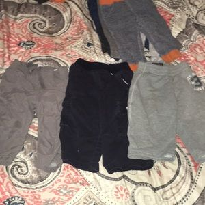 Lot of 7 boys pants 12-18 months